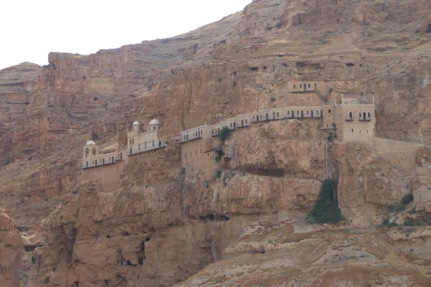 Overlooking mount of temptations in Jericho west bank palestine