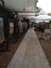 Art exhibition walking between the old houses and streets of byblos Lebanon