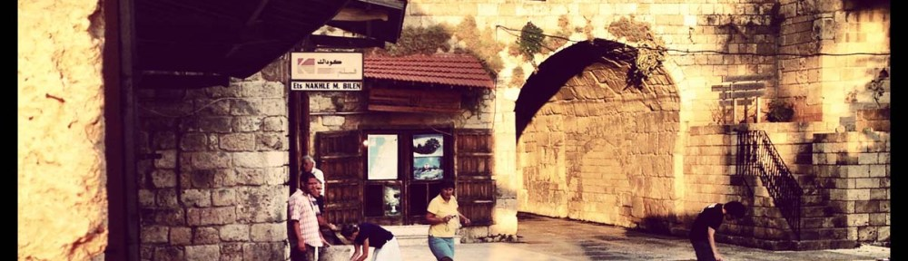 walking between the old houses and streets of byblos Lebanon