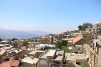 overlooking ehden in lebanon