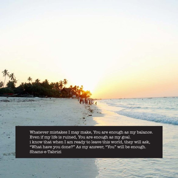 Shams Tabrii, quote, inspiration, spiritual, zanzibar