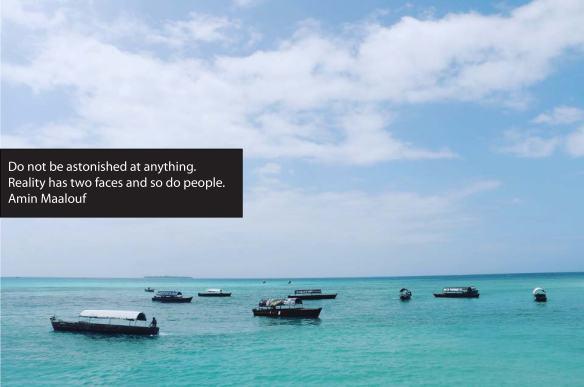 amin maalouf, quote, zanzibar, ocean, reality, people