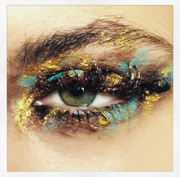 MawiOfficial, eye, eye-makeup, makeup, golden eye