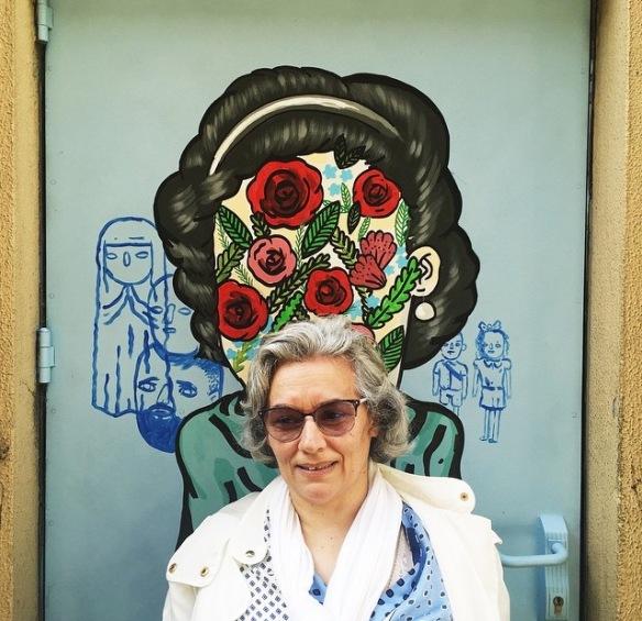 Kitato, graffiti, old, elder, roses, collage