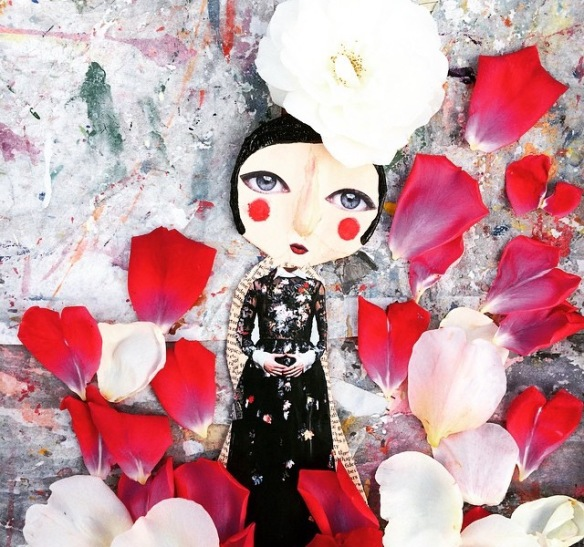 Tilly2Milly, art, character, roses, petals