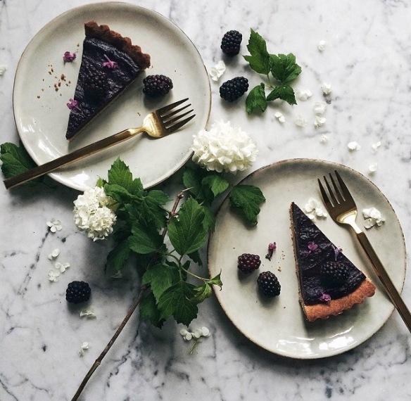 blueberry, blackberry, cake