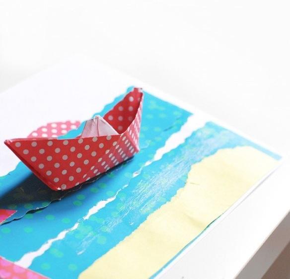 Kidvikk, boat, paperboat, craft, handcraft
