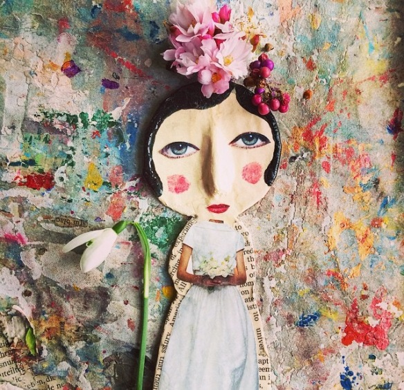 Tilly2Milly, crayon, collage, art, flowers