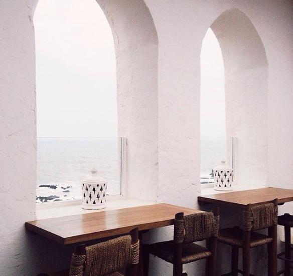 Arch, window, arabesque, beach, Le Simon