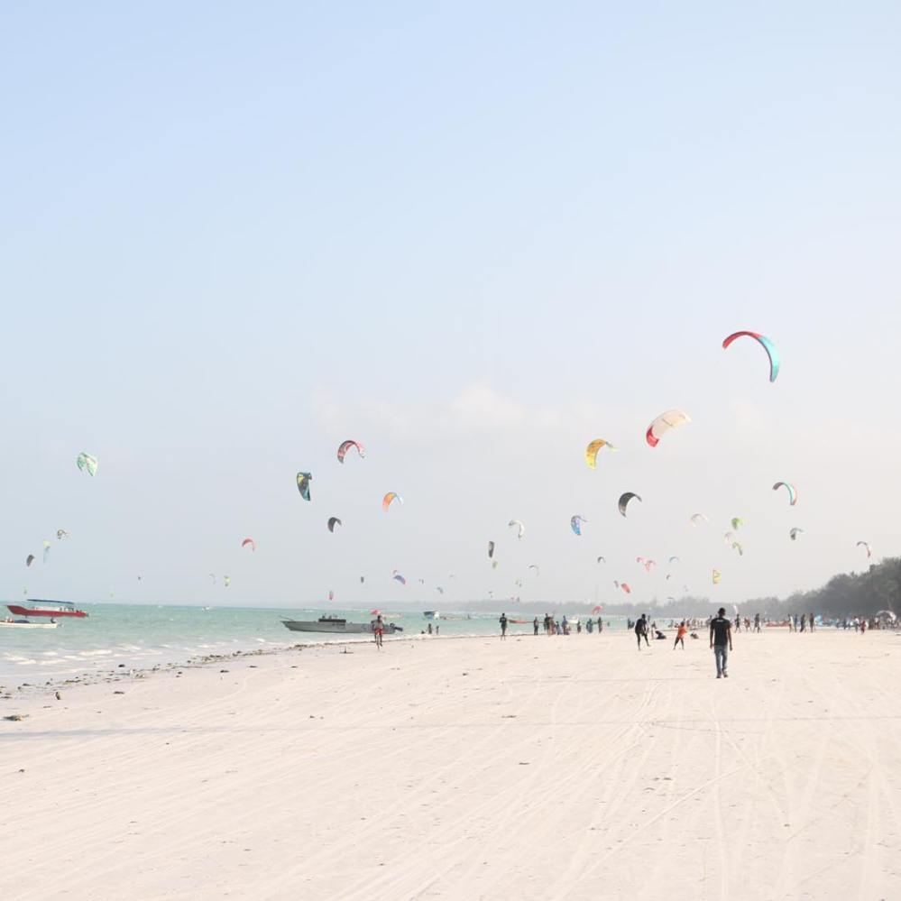 beach, ocean, kites, waterski, beach