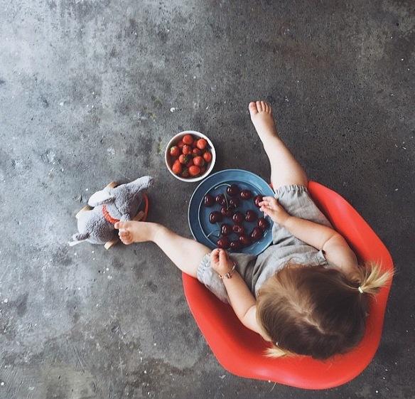 baby, food, fruit, foodie, cherries