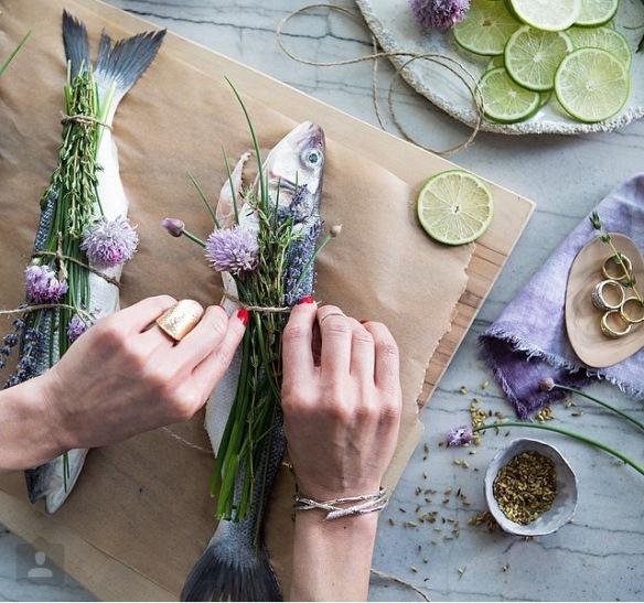 fish, lavender, foodie, cooking