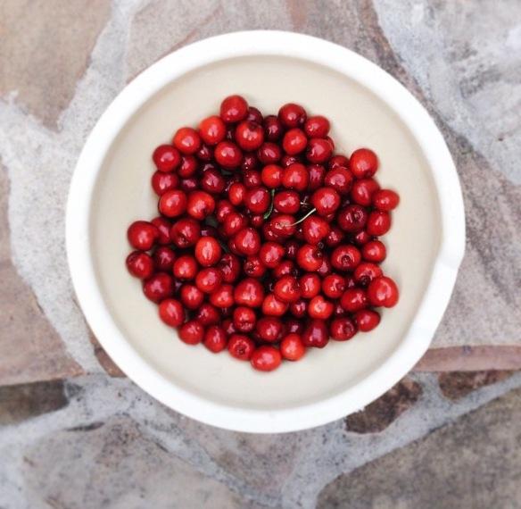 red current, cherries, foodie