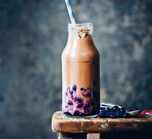 smoothie recipe, blueberries, foodie