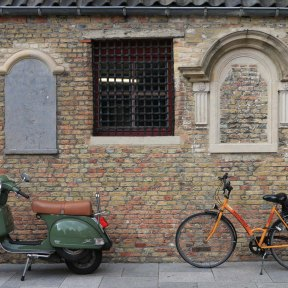 bruges, bicycles