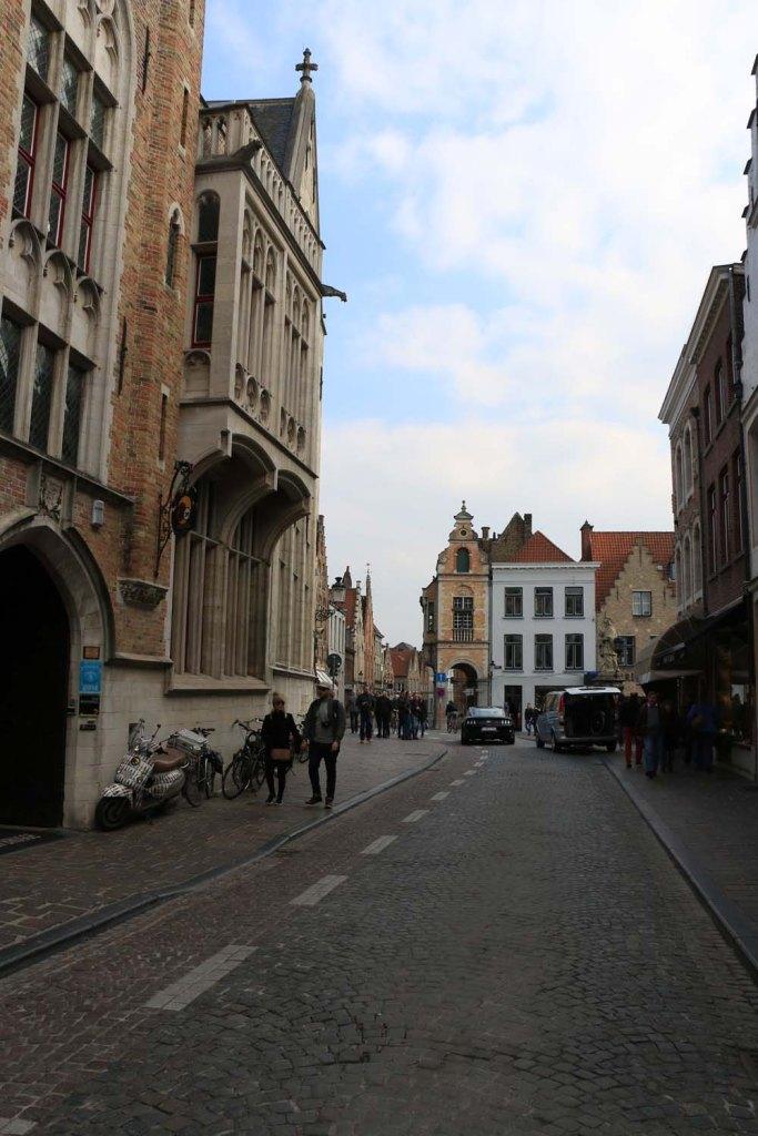 street, bruges, belgium