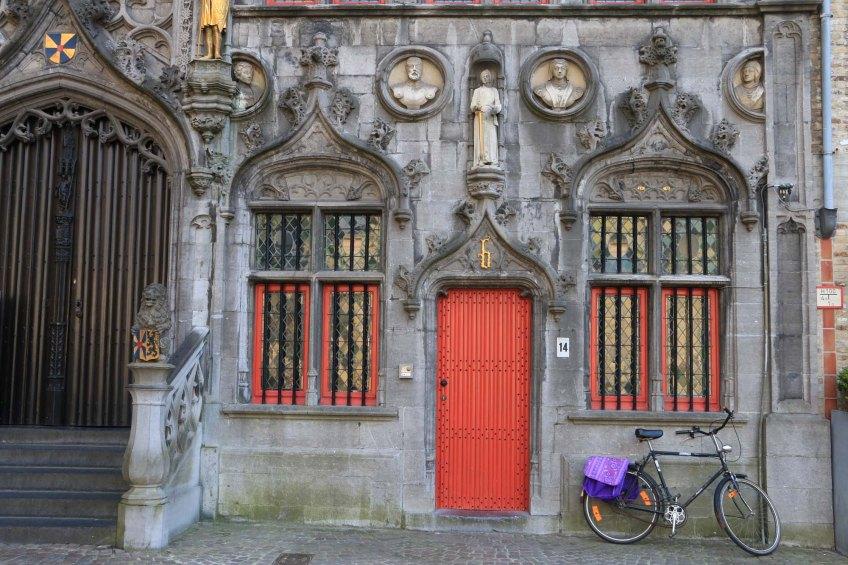 red, door, cathedral
