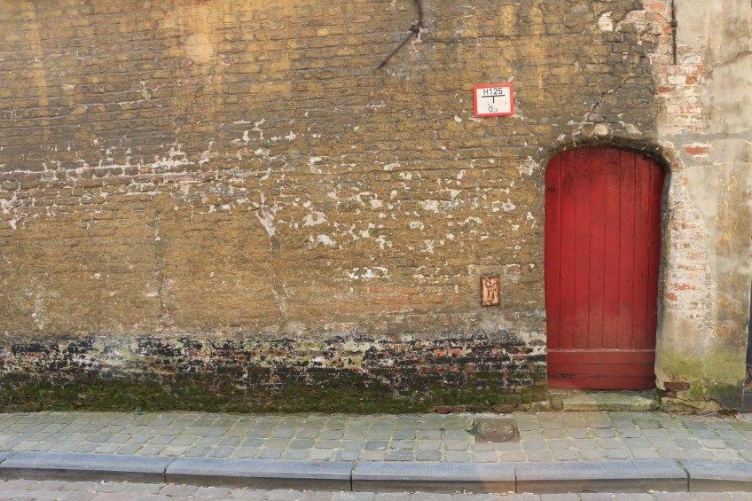 red, door