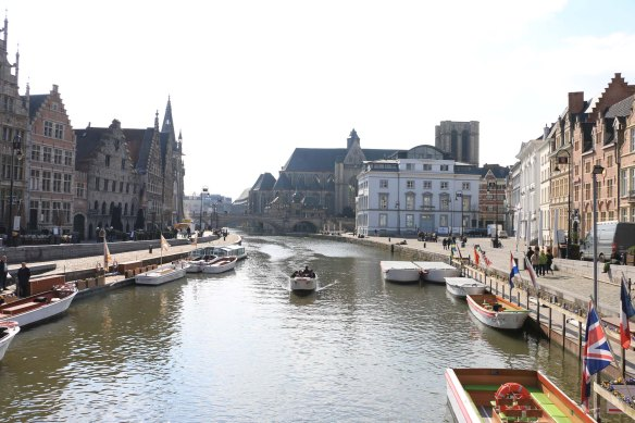 canal, ghent, belgium, water