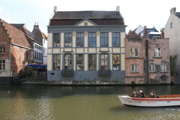 canal, ghent, architecture