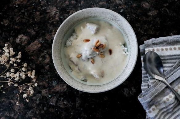 shakriyeh, laban immo, yogurt, cooked yogurt