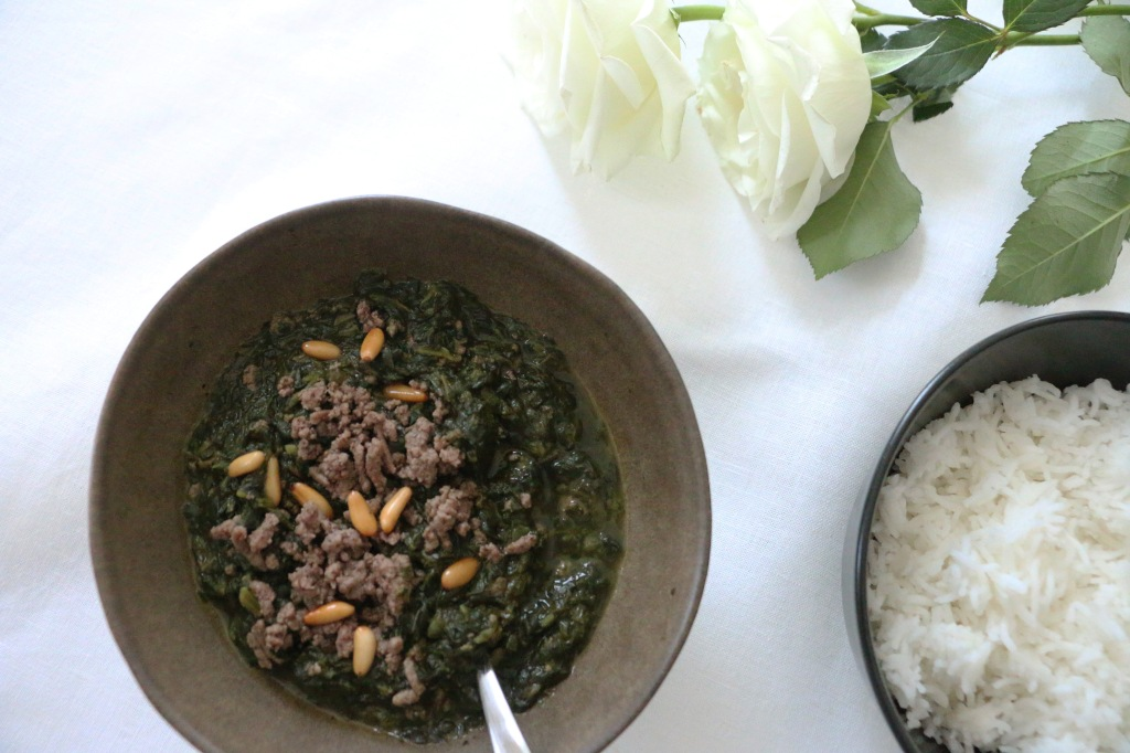 spinach, spinachstew, cooking, sour